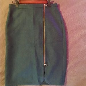 J Crew fully lined wool zip front pencil skirt